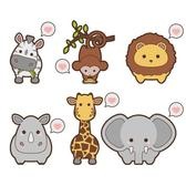 KAWAII SAFARI ANIMALS VECTORS.eps