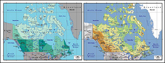 Vector map of the world exquisite material - Canada Maps