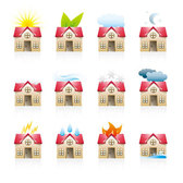 A variety of house vector icon