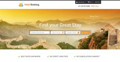 Hotel Booking Web Layout Free PSD Template