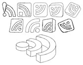 Hand Drawn RSS Icons