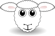 Funny Sheep Face White Cartoon