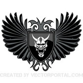 WINGS AND SKULL VECTOR IMAGE.eps