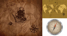 Old Maps And Compass