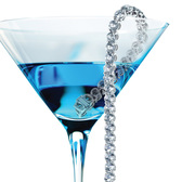 Blue Cocktail with Diamond Bracelet Graphic