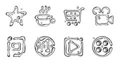 Icons graphic vector-2