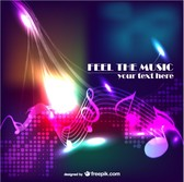 Music abstract modern background