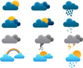 Stock Illustrationen Wetter Vector Icon