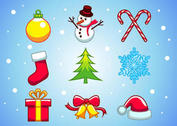 X mas Vector Elements