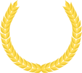Couronne de laurier dorÃ{c}e - Golden Laurel Wreath