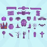 HALLOWEEN VECTOR ICONS PACK.eps