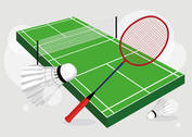 Badminton Court Vector Set