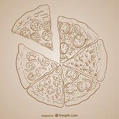 Pizza drawing