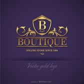 Gold boutique logo design