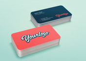 Stack Business Card MockUp