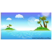 SUMMER LANDSCAPE VECTOR ILLUSTRATION.eps