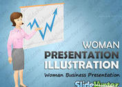 Business Woman Vector Presentation