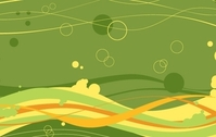FREE VECTOR WAVES AND BUBBLES BACKGROUND
