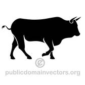 SILHOUETTE OF A BULL VECTOR.eps