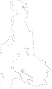 Outline Map Of Victoria Bc Canada Saanich Peninsula