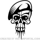 SKULL WITH MILITARY CAP VECTOR.eps