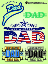 Fathers Day Design Elements