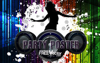 Free Vector Party Poster