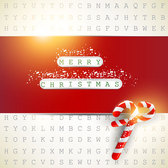 Red Christmas Card on Digital Background