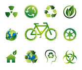 Green Bio Vector Icon Set