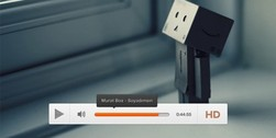 White Minimal Video Player Interface PSD