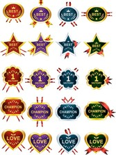 40 Honors And Awards Ribbons Medals