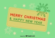 Retro banner of merry christmas and a happy new year