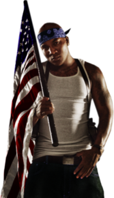 Young Jeezy With Flag PSD