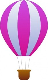 Maidis Vertical Striped Hot Air Balloons