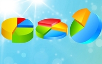 Free Vector pie charts 2