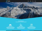 Train free landing page template