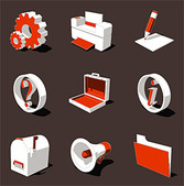 3D Three-Dimensional Vector Style Icon-2