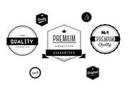 Free Black and White Labels Vector Set