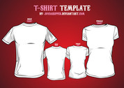 Free Vectors: T-Shirt Templates