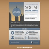 Social marketing mock-up set
