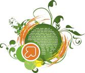 Green Grunge vector as background