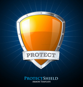 Creative orange protective shield design