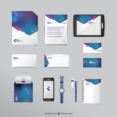 Free mock-up business vector set