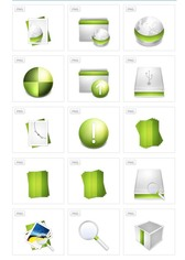 80 Aire Green Icon Set