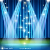 Spotlight scene vector template