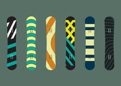 Snowboard Isolated Vectors