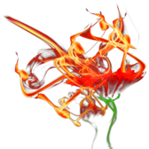 Burning Flower PSD