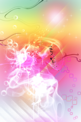 Glowing Colorful Sparks Overlay PSD
