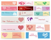 Valentine's Day Banner Vector Material Valentine's Day Banner Heart-shaped Happy Valentin Day