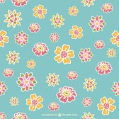 Retro flowers pattern design
